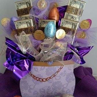 Gallery easter treats from 4495 this fun easter basket filled with easter chocolate eggs and chocolate money will make your gift recipients easter sunday more negle Image collections